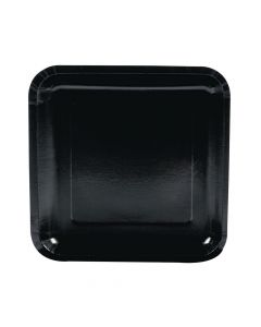 Black Square Paper Dinner Plates