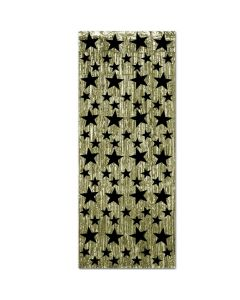 Black Star Gold Fringe Door Curtain