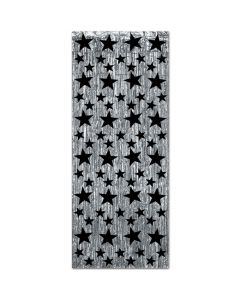 Black Star Silver Fringe Door Curtain