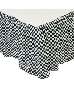 Black and White Checkered Pleated Table Skirt