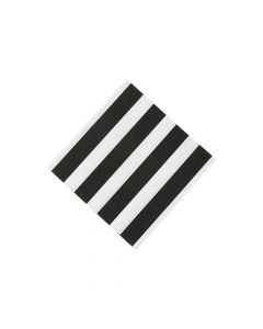 Black and White Striped Beverage Napkins