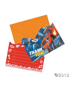 Blaze and the Monster Machines Thank You Cards