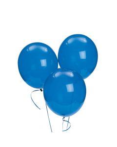 "Blue 9"" Latex Balloons"