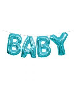 Blue Baby Mylar Balloon Banner