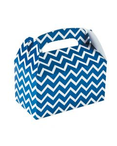 Blue Chevron Favor Boxes