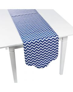 Blue Chevron and Polka Dot Table Runner