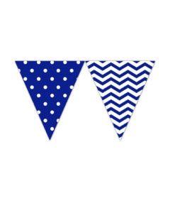 Blue Chevron Triangle Flag Banner