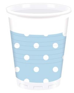 Blue Dots Plastic Cup