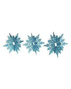 Blue Glitter Snowflakes Centerpiece