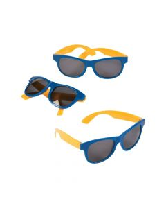 Blue and Gold Two-Tone Sunglasses