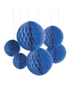 Blue Hanging Honeycomb Decorations