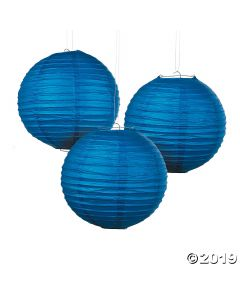 Blue Hanging Paper Lanterns