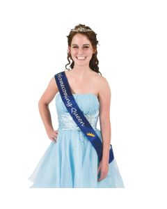 "Blue ""Homecoming Queen"" Sash"