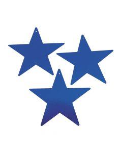 Blue Large Metallic Stars
