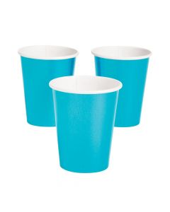 Blue Metallic Paper Cups