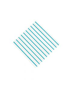 Blue Metallic Stripe Beverage Napkins