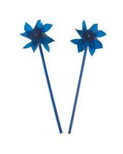 Blue Pinwheels