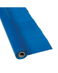 Blue Plastic Tablecloth Roll
