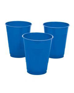 Blue Plastic Tumblers
