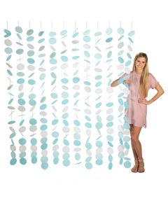 Blue and White Circle Hanging Decoration Backdrop