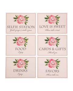 Blush Bridal Shower Sign Set