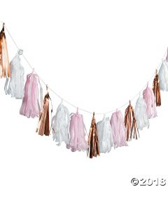 Blush & Rose Gold Tassel Garland