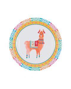 Boho Llama Paper Dinner Plates