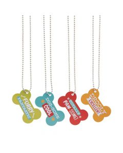 Bone-Shaped Dog Tag Necklaces