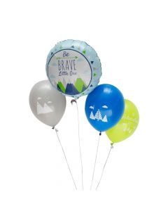Born to Move Mountains Baby Shower Balloon Set