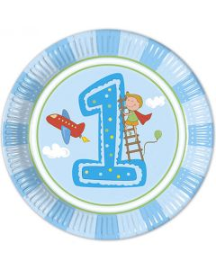 Boy First Birthday Lunch Plate