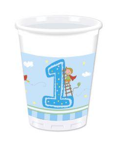 Boy First Birthday Plastic Cups