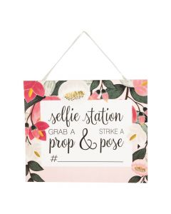 Bridal Selfie Station Sign with Easel