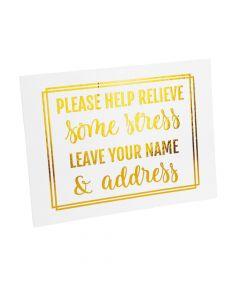 Bridal Shower Address Sign