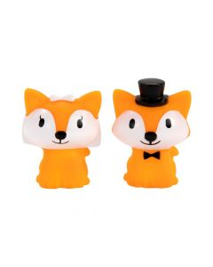 Bride and Groom Foxes