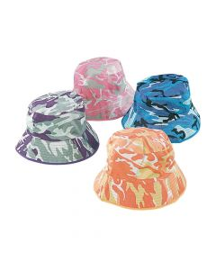 Bright Camouflage Bucket Hats Assortment