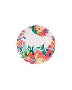 Bright Floral Dessert Plates