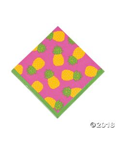 Bright Pineapple Luncheon Napkin
