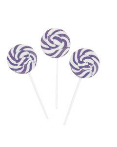 Bright Purple Swirl Lollipops