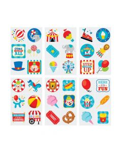 Bulk Carnival Temporary Tattoo Assortment