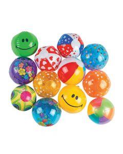 Bulk Inflatable Mini Beach Ball Assortment - 50 pcs.