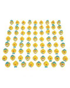 Bulk Mini Baby Boy Shower Rubber Duckies - 72 Pc.