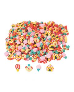 Bulk Mini Carnival Erasers - 300 Pc.