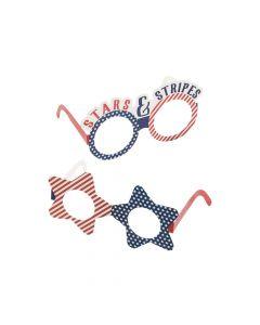 Bulk Patriotic Paper Glasses