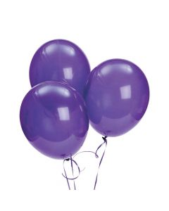 "Bulk Quartz Purple 11"" Latex Balloons"