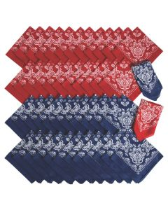 Bulk Red and Blue Bandanas