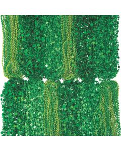 Bulk St. Patrick's Day Beaded Necklace Assortment - 500 Pc.