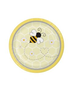 Bumblebee Party Round Paper Dessert Plates