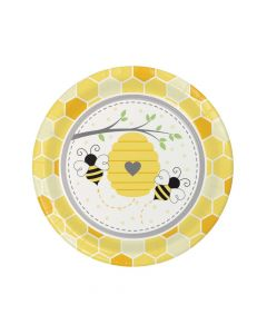 Bumblebee Party Round Paper Dinner Plates