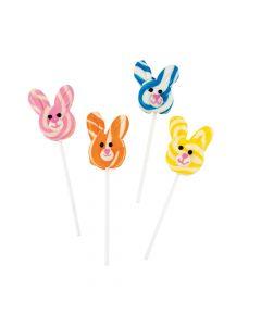 Bunny-Shaped Swirl Pops