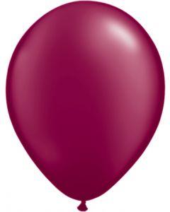 Burgundy 27cm Pearl Round Latex Balloon